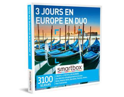 Smart Box - 3 jours en Europe en duo