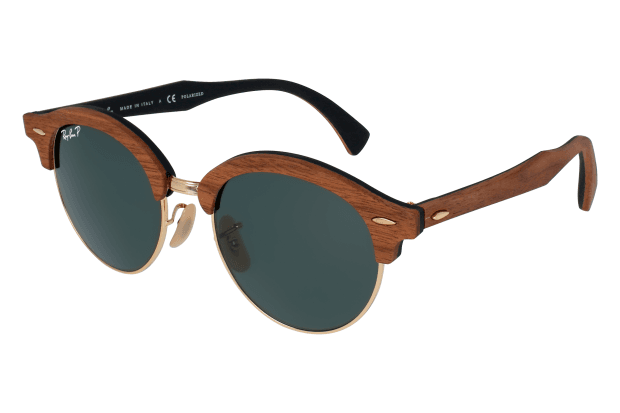 RAY BAN CLUBROUND WOOD RB 4246M 1181/58